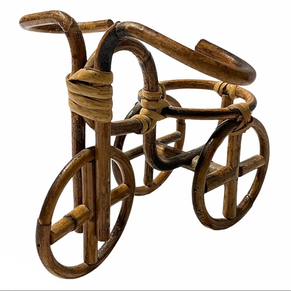 vintage wicker bike planter - tricycle